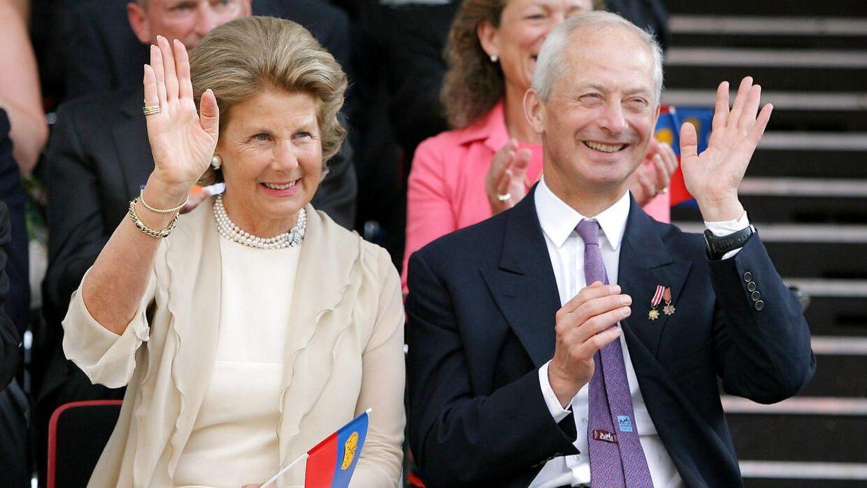 Prinsesse Marie med sin mand, fyrst Hans-Adam II.