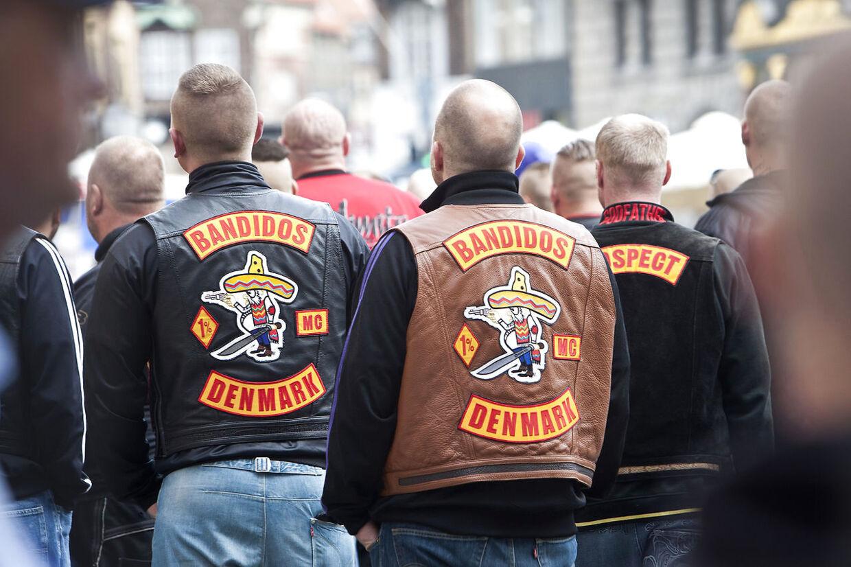 Bandidosmedlemmer fotograferet i København den 12. juli 2012.