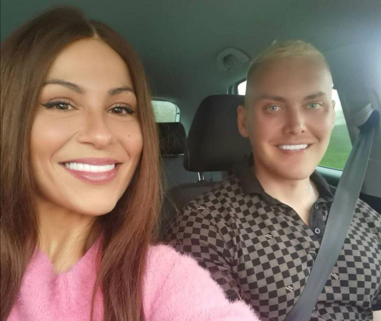 Simona Chira og Patrick Teichert efter ulykken. Privatfoto.