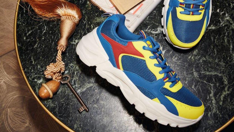 Disse sko kan blive dine for 10.000 kroner på Den Blå Avis. Foto: Lidl.