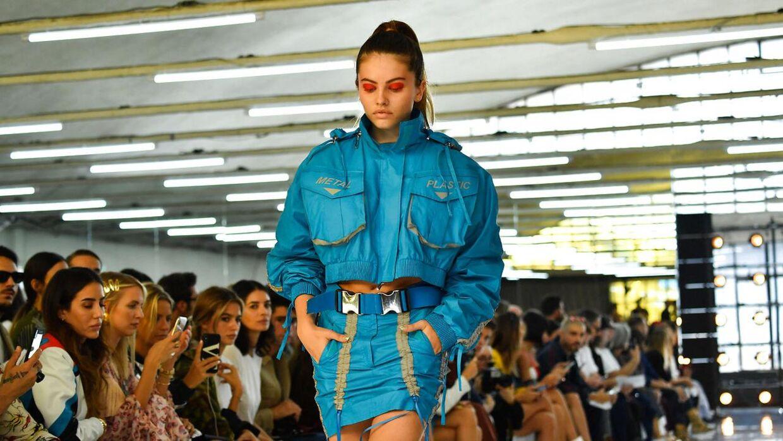 Thylane Blondeau oplever stor succes i sin karriere som model. Her ses hun på catwalken til et modeshow i Milan i 2018.