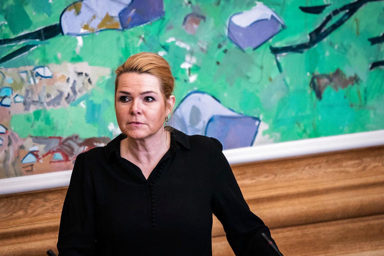 Inger Støjberg til ministrenes spørgetid i Folketingssalen onsdag den 24. marts 2021.. (Foto: Emil Helms/Ritzau Scanpix)