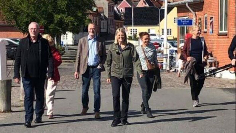 Trine Bramsen på Ærø 15. august 2021, hvor hun besøgte borgmester Ole Wej Petersen.