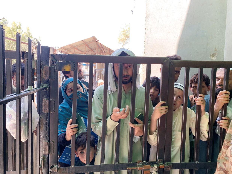 Grænseovergang mellem afghanistan og Pakistan. Pakistan forventes at spille en afgørende rille i forhold til det nye Afghanistan