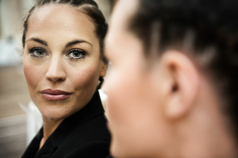 Pressemøde for ny realityserie på TV3. I 'Forsidefruer' følger vi fem kendte kvinder deres hverdag. Her Amalie Szigethy, realitystjerne.