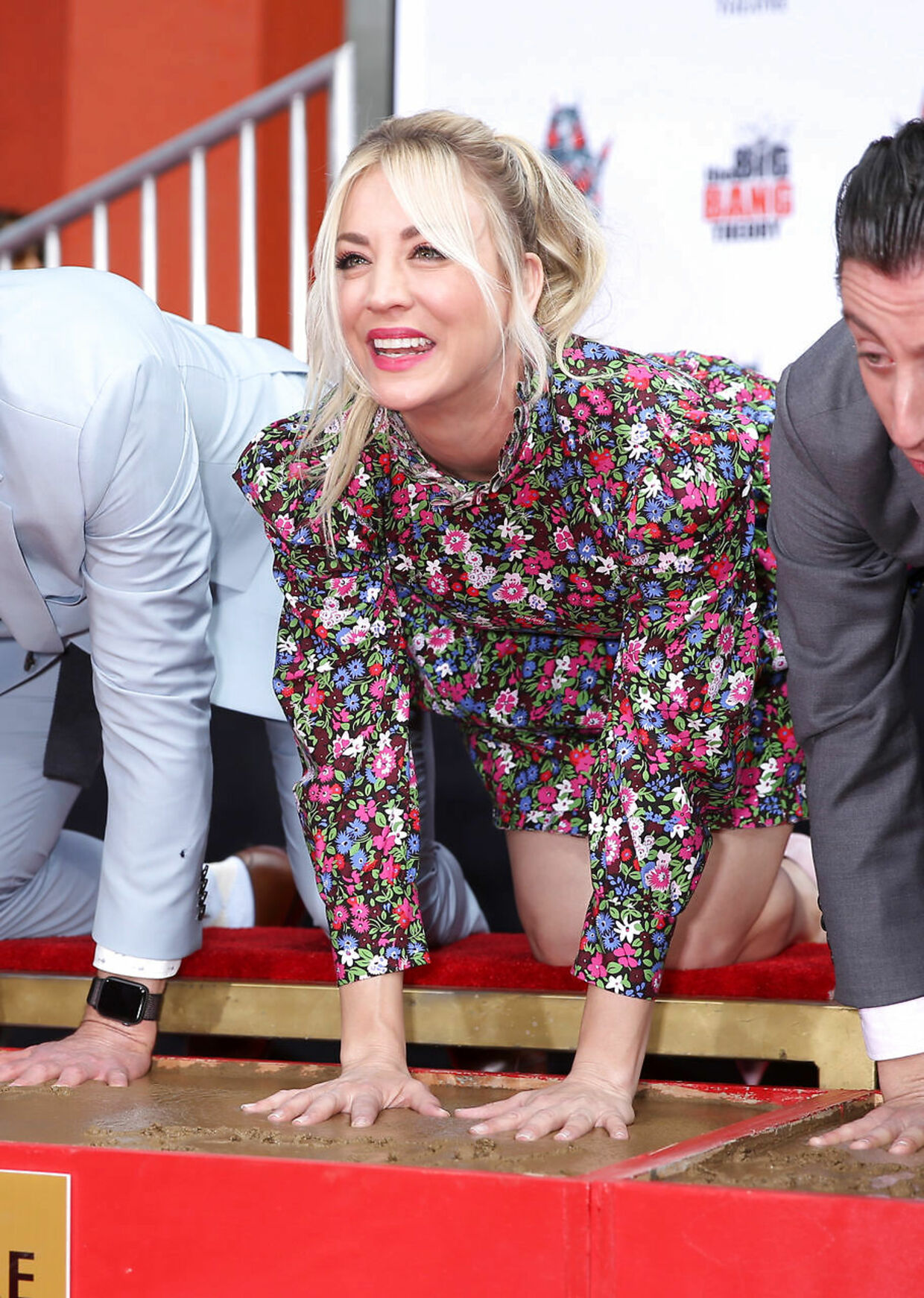 """Actor Kaley Cuoco participates in the cement handprints ceremony for the cast of the television comedy """"The Big Bang Theory"""" at the TCL Chinese Theatre IMAX in Hollywood, Los Angeles, California, U.S., May 1, 2019. REUTERS/Danny Moloshok"""