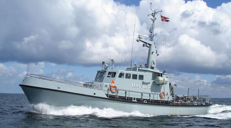 Det var dette patruljefartøj, forsvarsminister Trine Bramsen sejlede til Ærø med 15. august.