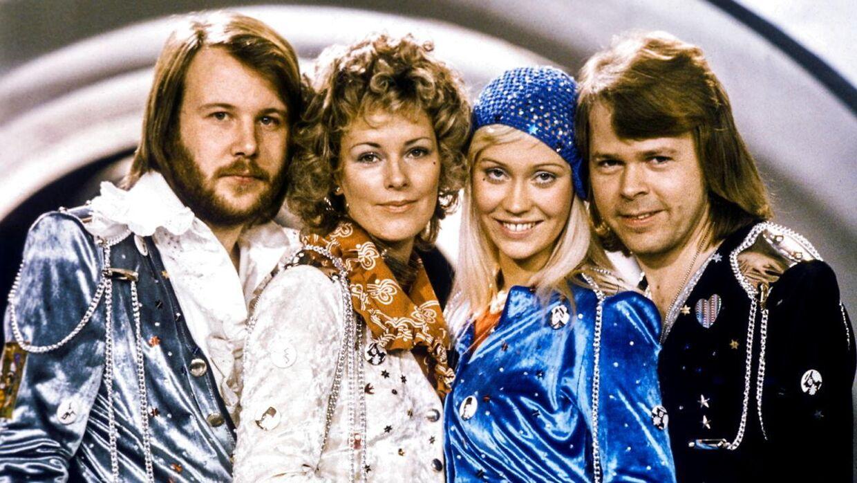 ABBA, som de så ud, da de vandt Det Internationale Melodi Grand Prix i 1974. (Arkivfoto)