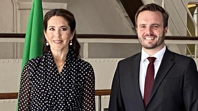 Kronprinsesse Mary har været i Milano med erhvervsminister Simon Kollerup (S).