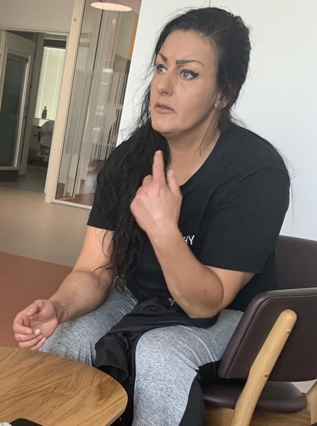 Ser du denne kvinde, bedes du ringe til politiet på telefon 114. Foto: Politiet