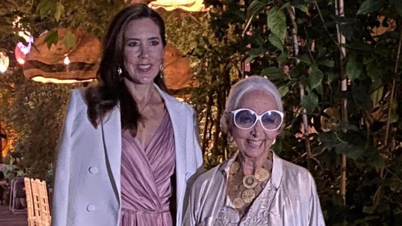 Kronprinsessen ankom til Rossana Orlandis gallamiddag.