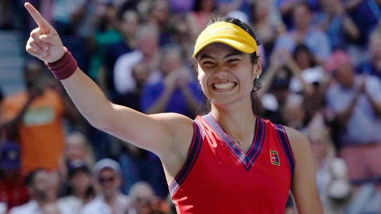 Emma Raducanu skal spille for en plads i US Open-finalen.
