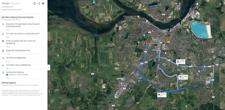 Aalborg Universitetshospital planlægger at placere barselshotel sammen med patienthotel på Sygehus Syd, siger hospitalsdirktør Jens Ole Skov. Det betyder, at de nybagte forældre må i taxa frem og tilbage fra fødegange i Aalborg Øst – en tur på over ti kilometer, ifølge Google.