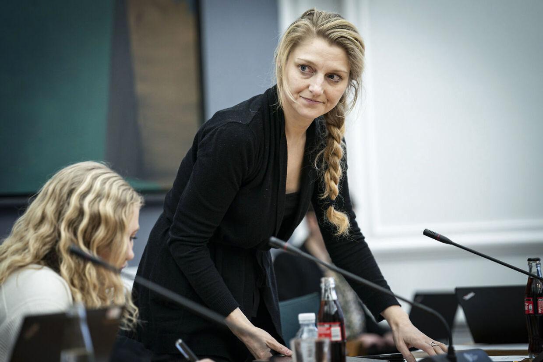 De Radikales miljøordfører, Zenia Stampe, under et samråd på Christiansborg.