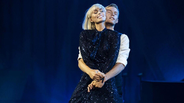Albert Rosin Harson og Jenna Bagge på gulvet til 'Vild med dans'-finalen 2020, hvor kemien allerede ikke var til at tage fejl af.