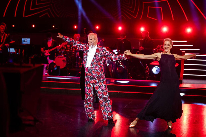 Jacob Haugaard og Camilla Dalsgaard under showet fredag.