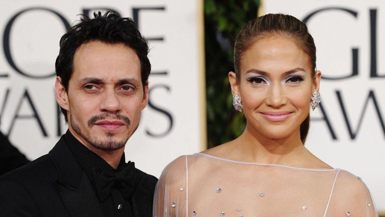 De gik fra hinanden allerede i juli sidste år, men nu har Marc Anthony bedt retten i Los Angeles om at blive skilt fra Jennifer Lopez. Her ses parret i begyndelsen af 2011, da alt endnu var godt mellem dem.