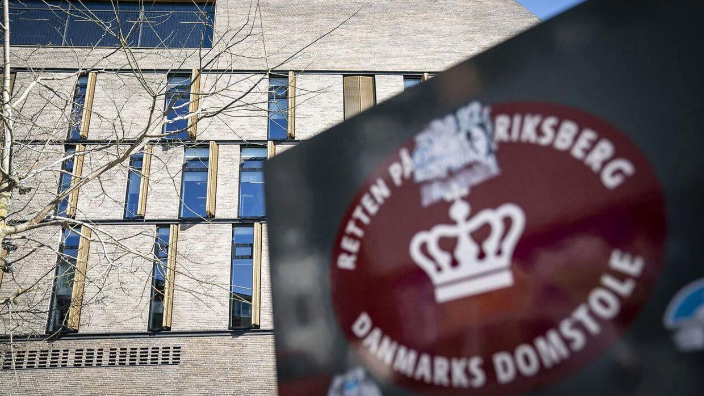 Arkivfoto af Frederiksberg Byret, der danner rammerne for retssagen mod den 31-årige mand. Han nægter sig skyldig.