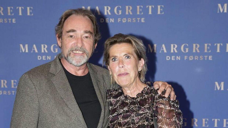 Martin Miehe-Renard og Karin Jagd til gallapremiere på filmen 'Margrete den første' i Imperial Bio i København, onsdag den 8. september 2021.
