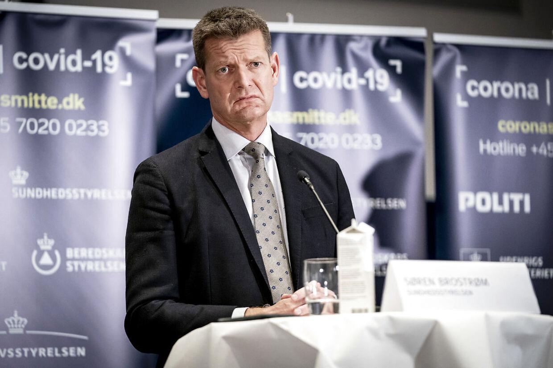 Direktør i Sundhedsstyrelsen Søren Brostrøm under pressemøde med status på covid-19 i Danmark og præsentation af en plan for vaccinationsindsatsen mod covid-19 i Eigtveds Pakhus i København 26. november 2020. (Foto: Mads Claus Rasmussen/Ritzau Scanpix)
