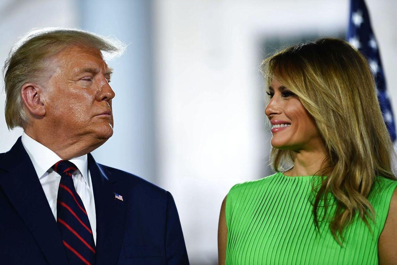 Donald og Melania Trump bor i dag i Florida.