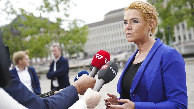Rigsretssagen mod Inger Støjberg fortsætter i Eigtveds Pakhus i København, tirsdag den 14. september 2021.