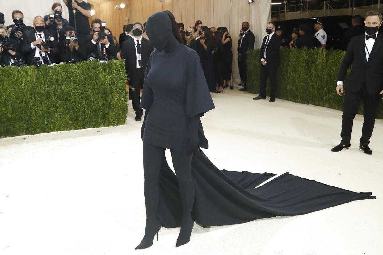 Kim Kardashian til Met Gala 2021.