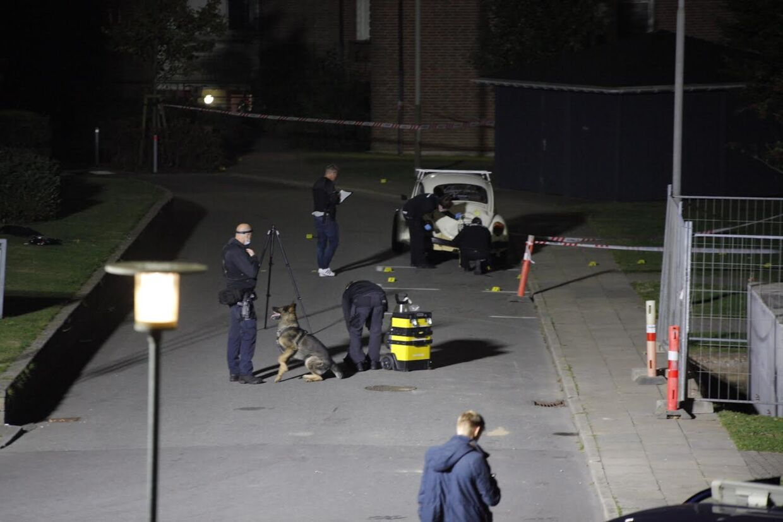 Politiet ved gerningsstedet i Esbjerg.