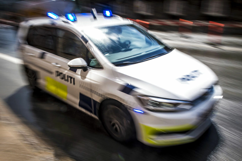 Politibil under udrykning i København, tirsdag den 7. maj 2019.