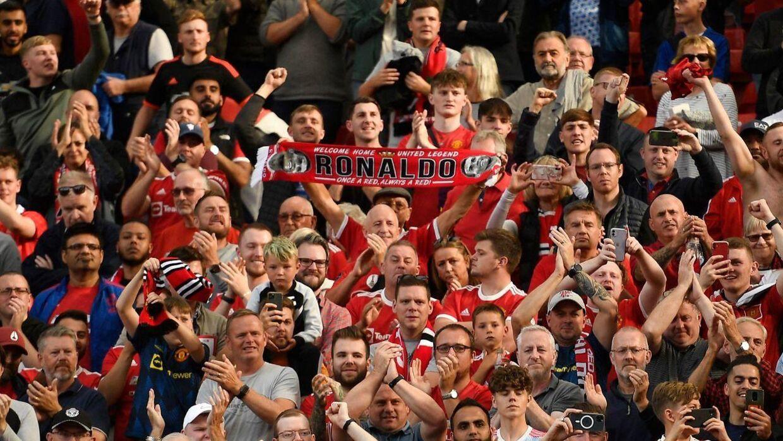 Fans på Old Trafford i weekenden.