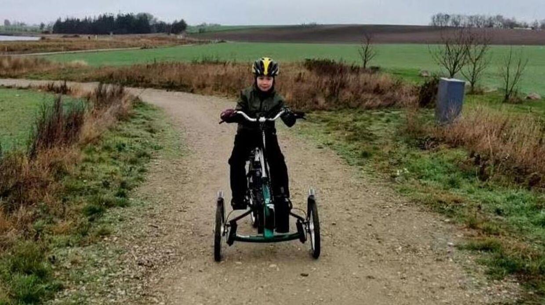 Ivalo på 10 år brugte sin cykel mellem 3 og 5 gange om ugen, og den var en vigtig del af træningen af hendes krop. Privatfoto.