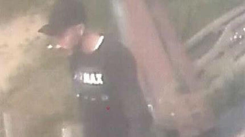 Her ses den ene mistænkte, A.