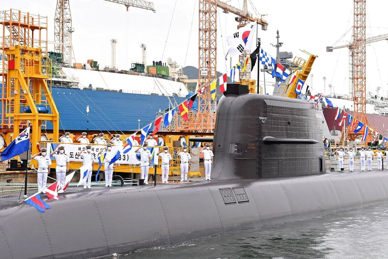 Det var ubåden Ahn Chang-ho, der onsdag stod bag affyringen af et nyt sydkoreansk ubådsmissil (Arkivfoto). Handout/Ritzau Scanpix