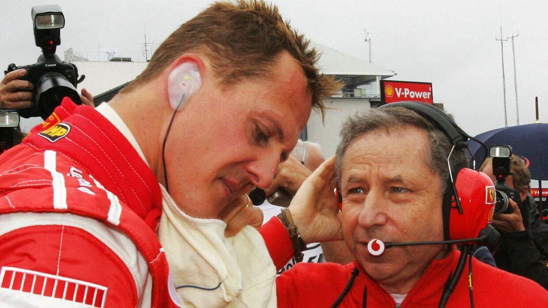 Michael Schumacher og Jean Todt i tiden hos Ferrari.