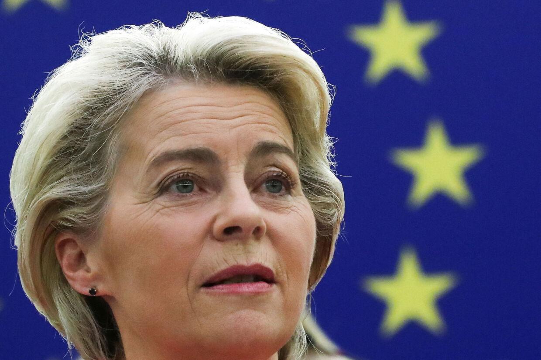 EU-Kommissionen vil foreslå et forbud mod at sælge produkter på det europæiske marked, som er fremstillet ved tvangsarbejde, siger Ursula von der Leyen. Yves Herman/Reuters