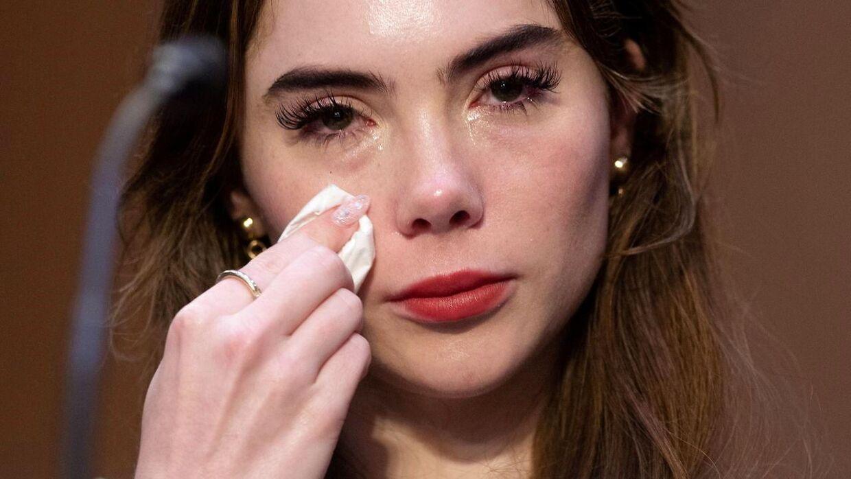 McKayla Maroney kunne ikke holde tårerne tilbage, da hun skulle give sin forklaring.