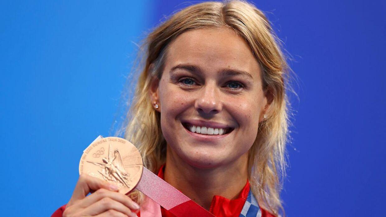 Pernille Blume vandt OL-bronze i 50 meter fri i Tokyo.