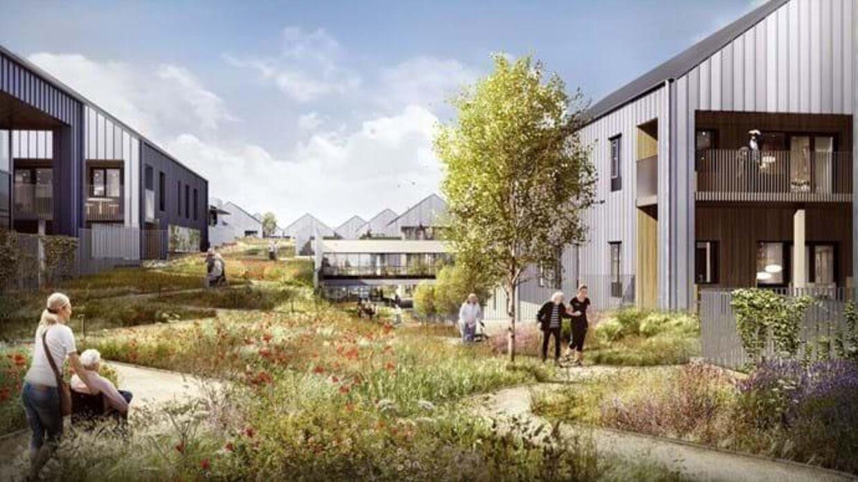 Ved åbningsceremonien står 31 pladser tomme på det nye demensplejehjem Skovvang.
