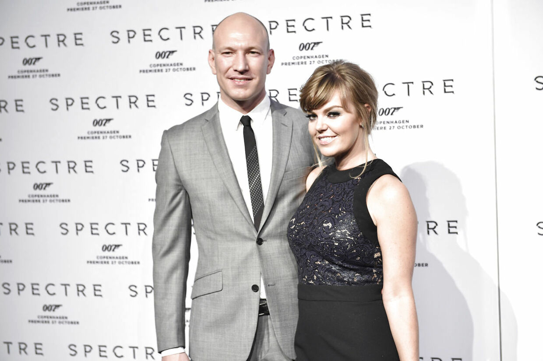 Lina Rafn med sin mand, Kasper Pertho, i 2016.