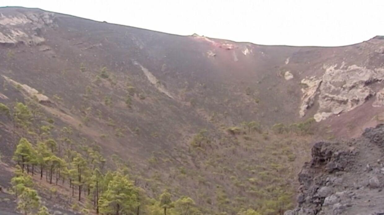 Sådan ser vullkanen ud på øen La Palma.