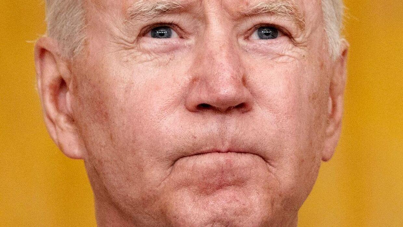 En sammenbidt Joe Biden har haft nogle hårde uger i Det Hvide Hus.