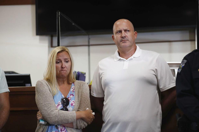 Gabbys forældre Tara og Joe Petito på pressemødet torsdag, hvor de talte om deres datters forsvinden.