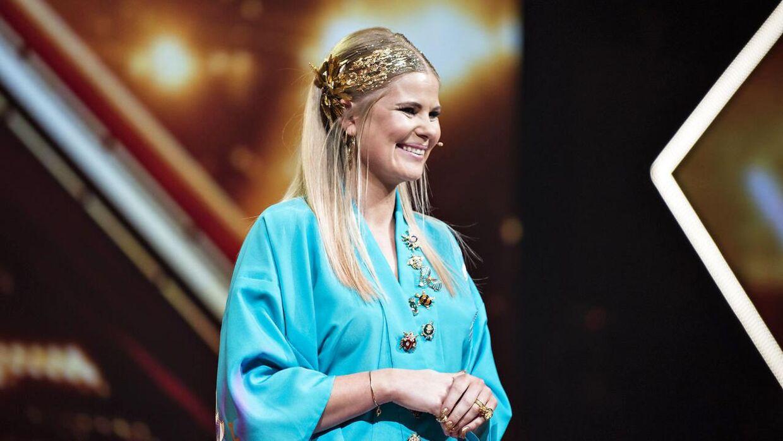 Sofie Linde i sit virke som 'X-Factor'-vært.