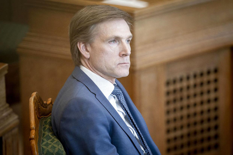 Kristian Thulesen Dahl (DF) under et møde i Folketingssalen.