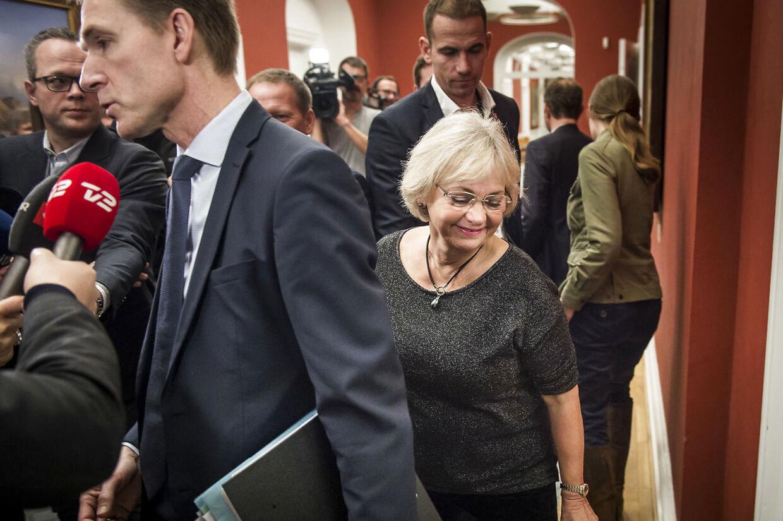 Kristians Thulesen Dahl og Pia Kjærsgaard på Christiansborg.