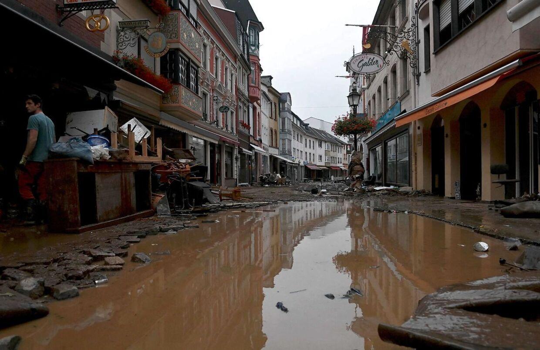 Sådan så det ud, da Tyskland oplevede massive oversvømmelser denne sommer (Photo by Christof STACHE / AFP)