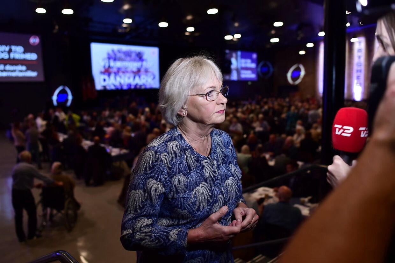 Pia Kjærsgaard under Dansk Folkepartis årsmøde i MCH Herning Kongrescenter lørdag den 18. september 2021.