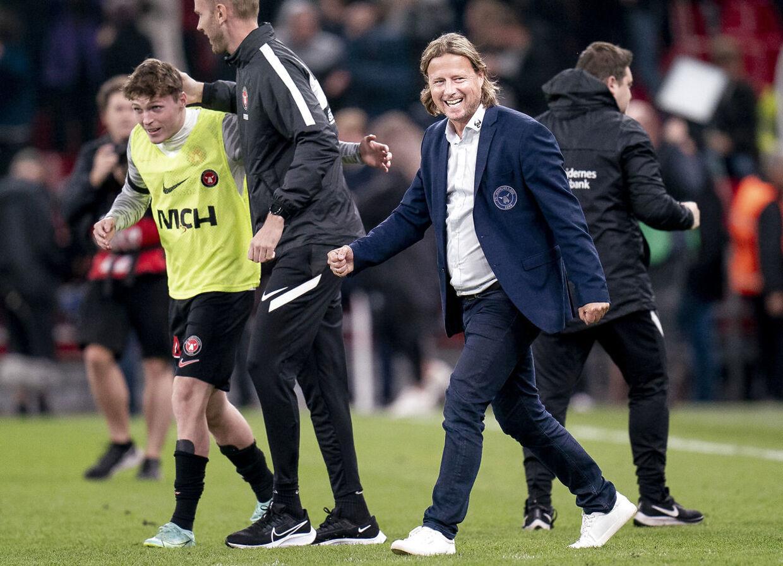 FC Midtjyllands Cheftræner Bo Henriksen efter superligakampen mellem FC København og FC Midtjylland i Parken , søndag den 19. september 2021.. (Foto: Liselotte Sabroe/Ritzau Scanpix)