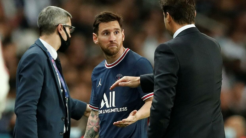 Messi blev taget ud med et kvarter igen af kampen mod Lyon. Benoit Tessier/Reuters