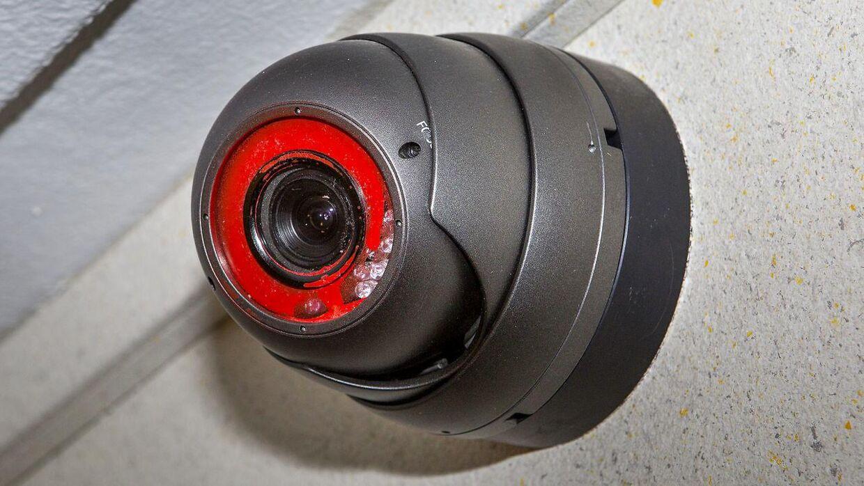 Arkivfoto af overvågningskamera.